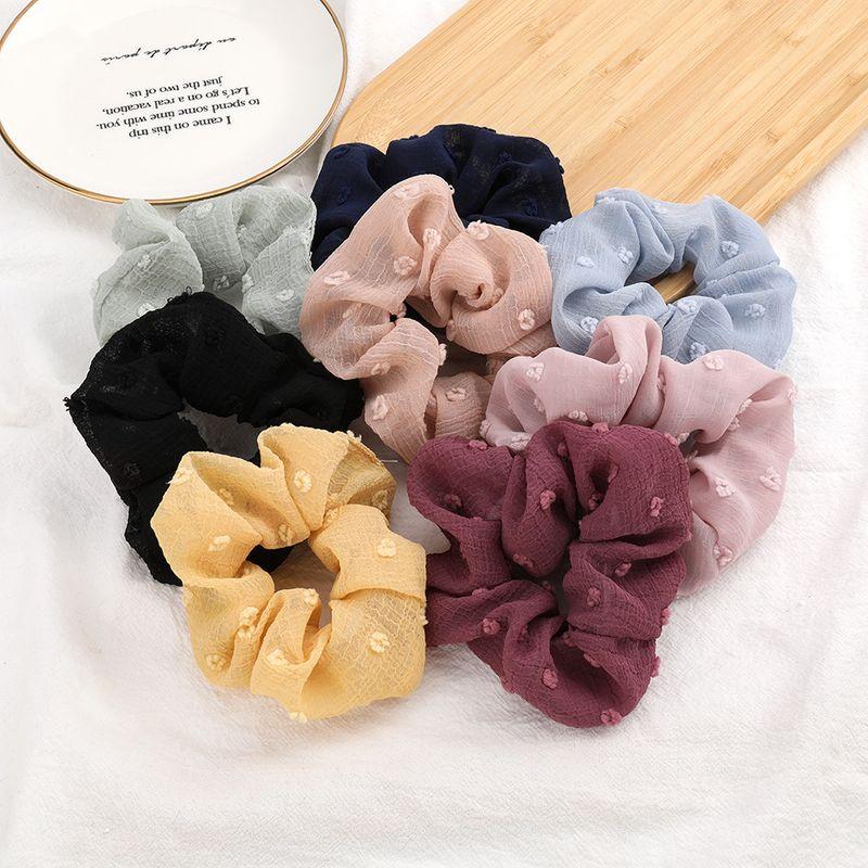 Fashion cotton thread small flower light yarn fabric hair scrunchies Korean hair circle net red French colon ring hair rope wholesale NHJE213480