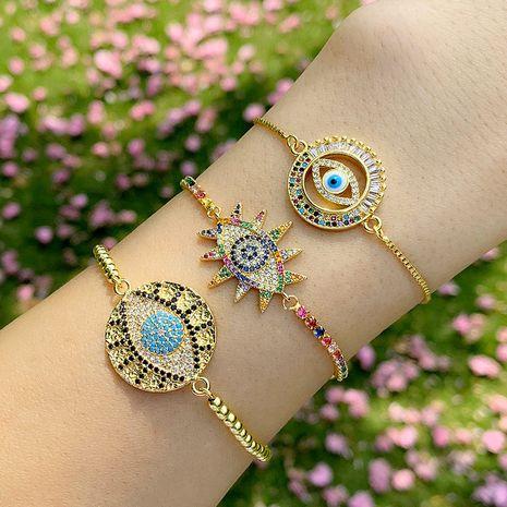 Bracelet yiwu nihaojewelry new diamond accessories fashion devil's eye bracelet bracelets wholesale NHAS213486's discount tags