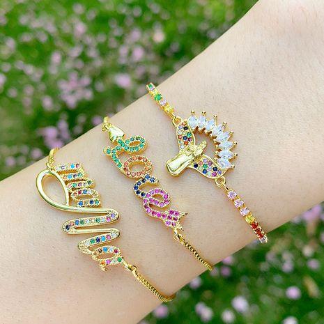 Fashion bracelet yiwu nihaojewelry love bracelet adjustable rainbow bracelet mama Madonna bracelet wholesale NHAS213488's discount tags