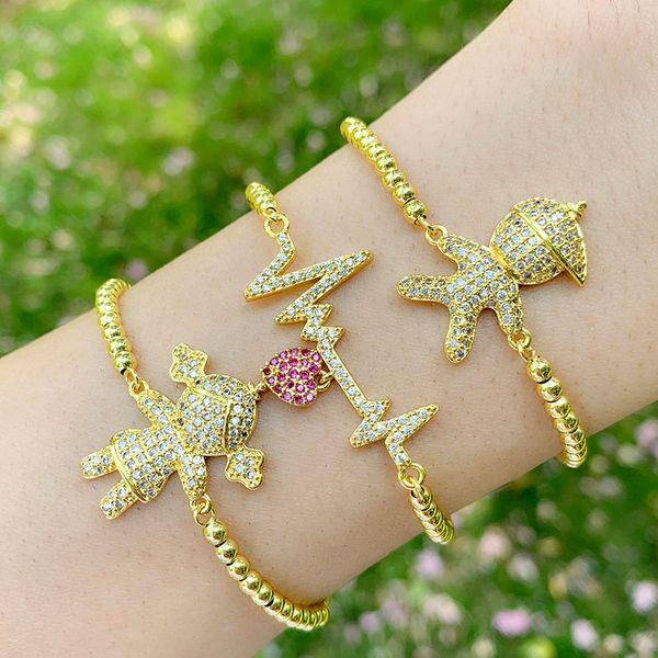Korean bracelet yiwu nihaojewelry wholesale fashion jewelry new heartbeat couple bracelet boy girl bracelet NHAS213491