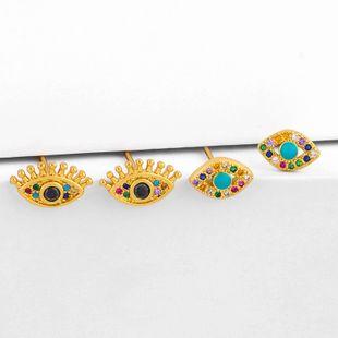earrings nihaojewelry wholesale new popular jewelry earrings zircon earrings original diamond eyes earrings NHAS213495's discount tags
