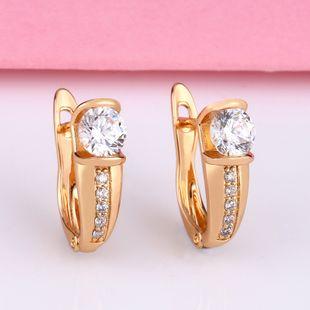 Hot earrings nihaojewelry wholesale Korean earrings fashion zircon earrings NHAS213498's discount tags