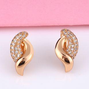 Hot earrings micro diamond earrings nihaojewelry wholesale simple geometric earrings NHAS213500's discount tags