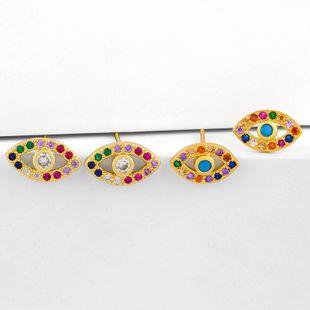 Retro fashion devil's eye earrings nihaojewelry wholesale micro-set zircon eye earring NHAS213503's discount tags