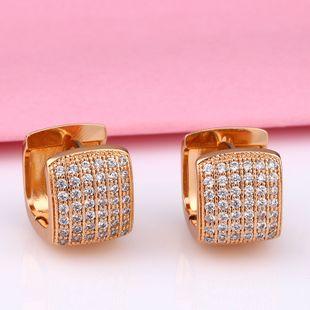 Fashion accessories nihaojewelry wholesale retro French square geometric earrings female diamond earrings NHAS213520's discount tags