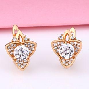 New accessories nihaojewelry wholesale retro French light luxury flower earrings female diamond earrings short earrings NHAS213523's discount tags