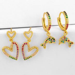New earrings nihaojewelry wholesale fashion love earrings simple and small earrings NHAS213524's discount tags