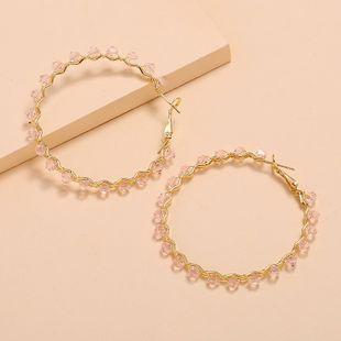 Korean retro exaggerated crystal earrings nihaojewelry wholesale fashion new geometric earrings NHKQ213549's discount tags