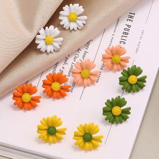 Fashion New Trend Simple Earrings nihaojewelry Wholesale Sweet Sen Super Sunflower Daisy Flower Earring NHKQ213566's discount tags