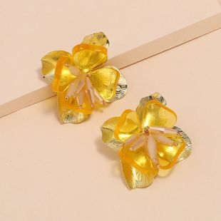 Moda nueva corte pendientes creativos nihaojewelry al por mayor tendencia simple micro-set flor pendientes NHKQ213576's discount tags