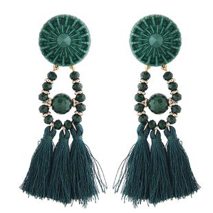 Fashion tassel earrings nihaojewelry wholesale simple and wild tassel temperament exaggerated earrings NHSC213657's discount tags