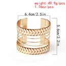 Fashion jewelry nihaojewelry wholesale retro semicircular stitching metal jewelry exaggerated geometric hollow multiwide bracelet NHXR213643
