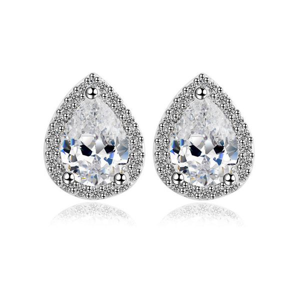 Fashion water drop earrings AAA zircon earrings exquisite nihaojewelry wholesale bridal earrings NHTM213656