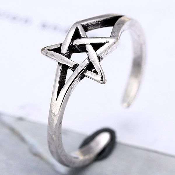 Fashion Copper Ring Wholesale Metal Imitation Thai Silver Open Ring NHSC213750