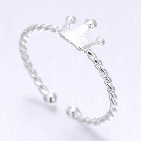 Korean white copper ring nihaojewelry wholesale fashion sweet crown open ring NHSC213751