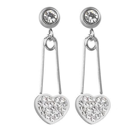Nouvelle mode géométrique exagéré diamant zircon broches boucles d'oreilles en acier au titane amour boucles d'oreilles longues boucles d'oreilles NHHF213727's discount tags