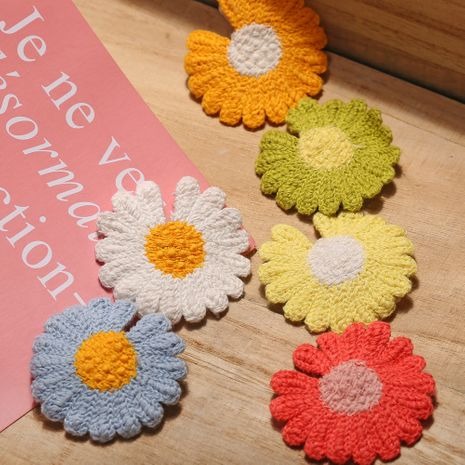 Children's small daisy hairpin china nihaojewelry wholesale cute wool small hairpin headdress Korean top clip NHPJ213762's discount tags