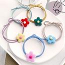 Flower hair scrunchies nihaojewelry wholesale Korean sweet daisy hair band Korean girl hair rope hair accessories NHPJ213764