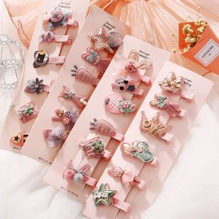 Korea's new fashion cute children's hair accessories baby headdress girls cheap hairpin wholesale NHPJ213767's discount tags