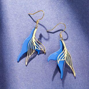 Summer fashion trend earrings yiwu nihaojewekry wholesale fishtail earrings Korea 925 silver hook simple sexy ear hook NHPP213797's discount tags