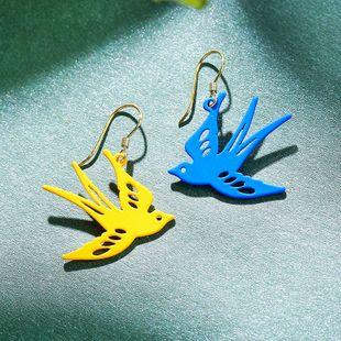 925 silver asymmetric earrings yiwu nihaojewekry wholesale small swallow earrings summer earrings NHPP213800's discount tags