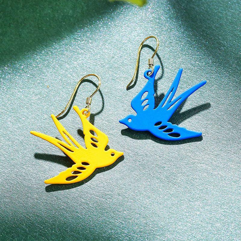 925 silver asymmetric earrings yiwu nihaojewekry wholesale small swallow earrings summer earrings NHPP213800