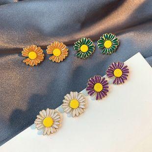 Korean new small daisy drop oil s925 silver needle earrings nihaojewelry wholesale NHSD213820's discount tags