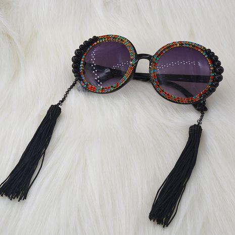 Baroque sunglasses UV protection new diamond tassel fashion sunglasses nihaojewelry wholesale NHNT213846's discount tags