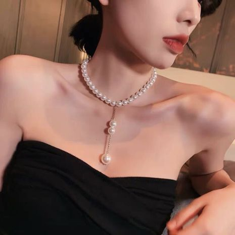 Korean new fashion pearl necklace nihaojewelry wholesale NHMD213871's discount tags