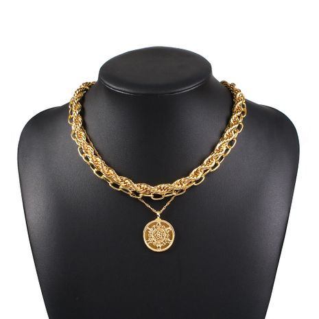 New punk style multi-layer alloy necklace set creative fashion hip-hop relief necklace nihaojewelry wholesale NHMD213874's discount tags
