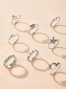 New fashion wisp lotus starfish ring set yiwu nihaojewelry wholesale love star fishtail ring set NHGY213893