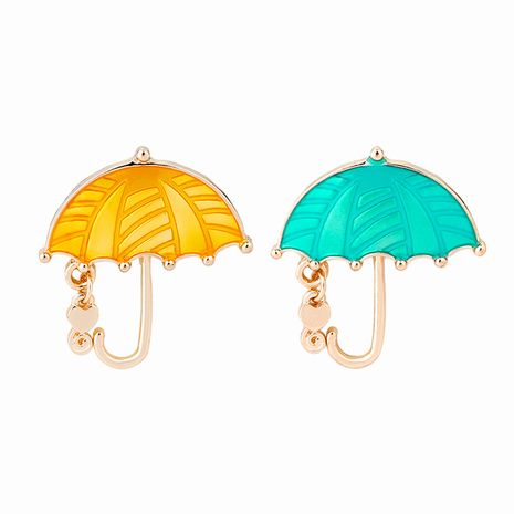 New fashion cartoon creative umbrella brooch nihaojewelry wholesale NHMO213897's discount tags
