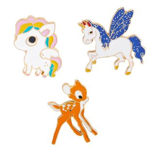 Cute colorful little elk pony dream unicorn brooch clothing accessories brooch nihaojewelry wholesale NHMO213909's discount tags