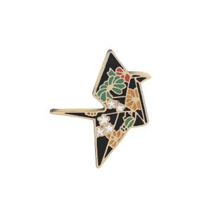 New fashion enamel cartoon thousand paper crane brooch clothing accessories bag accessories brooch nihaojewelry wholesale NHMO213914's discount tags