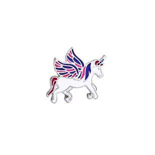 New creative cartoon cute unicorn brooch fashion bag accessories nihaojewelry wholesale NHMO213917's discount tags