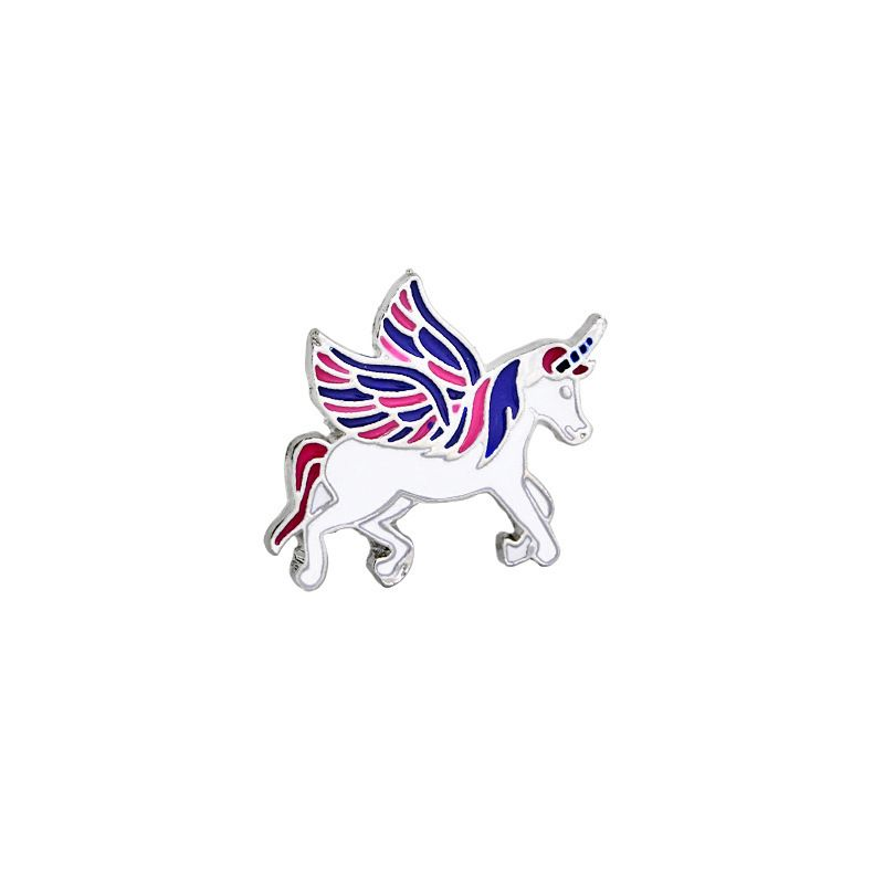 New creative cartoon cute unicorn brooch fashion bag accessories nihaojewelry wholesale NHMO213917