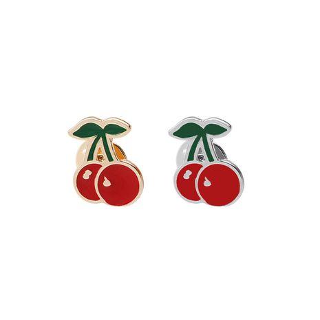 New fashion cartoon fashion creative fruit cherry shirt hundred decoration bag accessories brooch nihaojewelry wholesale NHMO213921's discount tags