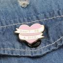 New fashion love English lettering Dont BE A DICK brooch clothing accessories bag brooch nihaojewelry wholesale NHMO213925