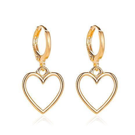 New fashion simple hollow love earrings wild metal peach heart earrings wholesale nihaojewelry NHMO213927's discount tags