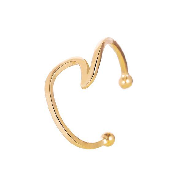 New ear clips yiwu nihaojewelry wholesale simple metal wave ear cuff clip earrings single NHMO213965