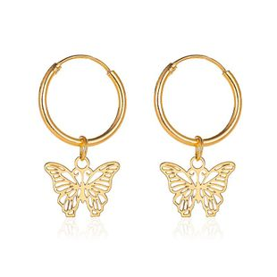 New simple sweet butterfly earrings French hollow small insect earrings wholesale nihaojewelry NHMO213966's discount tags