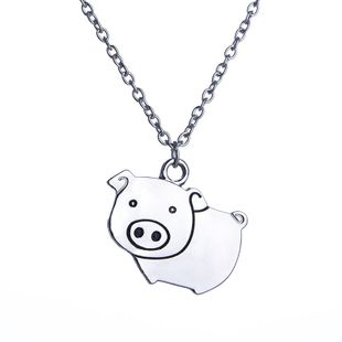 New fashion cute cartoon creative piglet necklace nihaojewelry wholesale NHMO213967's discount tags