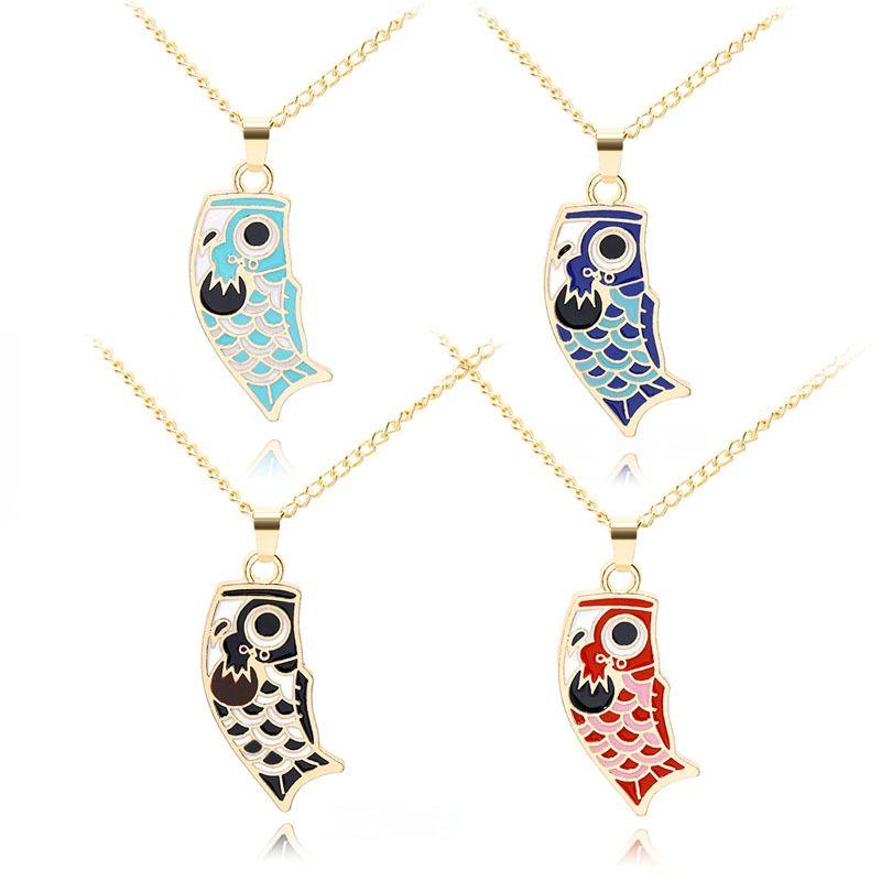 New cartoon wild creative carp necklace nihaojewelry wholesale NHMO213975