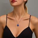 New classic titanic crystal gem love necklace wholesale nihaojewelry NHMO213997
