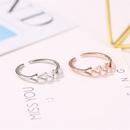 New ring yiwu nihaojewelry wholesale simple triangle ring fashion geometric hollow opening single ring NHMO214005