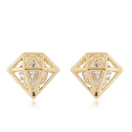 Korean new fashion diamond shape sweet OL zircon earrings nihaojewelry wholesale NHSC214054's discount tags