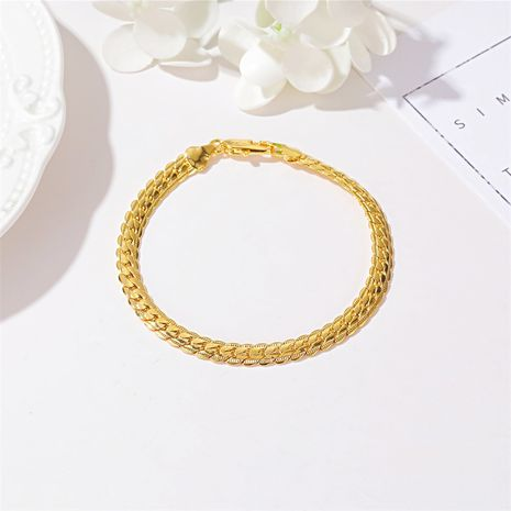New fashion simple metal twist bracelet nihaojewelry wholesale NHDP213672's discount tags