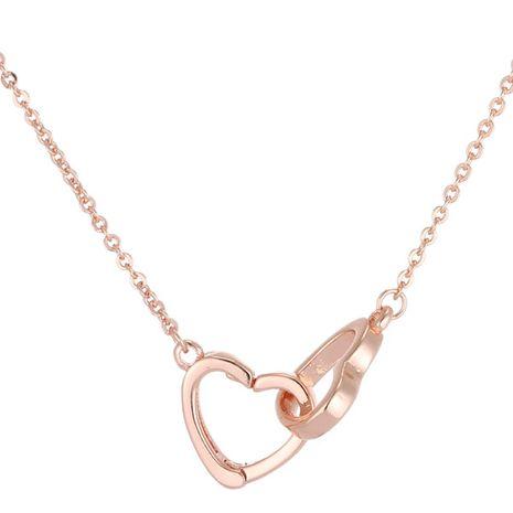 Mode coréenne coeur doux et coeur collier en cuivre nihaojewelry gros NHSC214465's discount tags