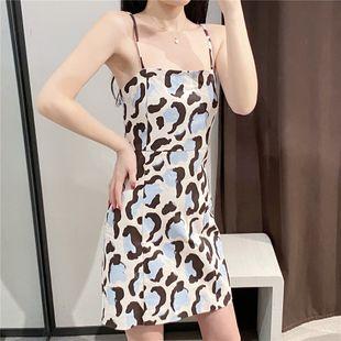 Summer new casual printed suspender skirt loose dress nihaojewelry wholesale NHAM214335's discount tags