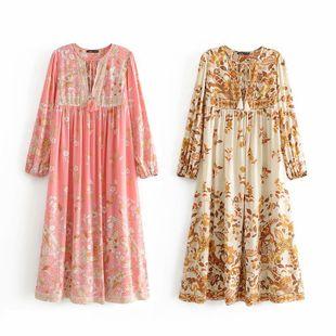 Spring new fashion tassel bohemian beach dress nihaojewelry wholesale NHAM214370's discount tags